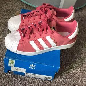 Adidas Superstar J 6.5y pink/white